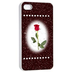 Pretty as a rose Apple iPhone 4/4s Seamless Case (White)