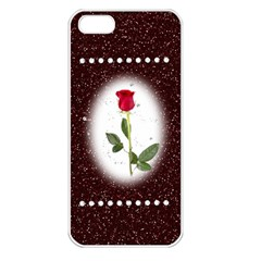 Pretty As A Rose Apple Iphone 5 Seamless Case (white)