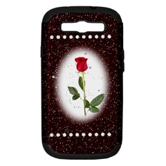 Pretty As A Rose Samsung Galaxy S Iii Hardshell Case (pc+silicone)