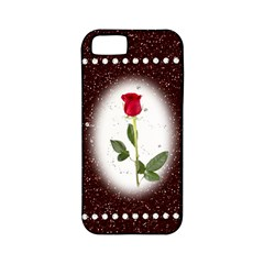 Pretty as a rose Apple iPhone 5 Classic Hardshell Case (PC+Silicone)