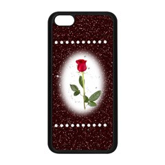 Pretty as a rose Apple iPhone 5C Seamless Case (Black)