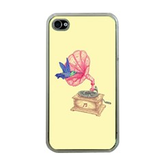 Bird Love Music Apple Iphone 4 Case (clear)