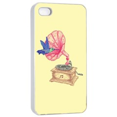 Bird Love Music Apple Iphone 4/4s Seamless Case (white)