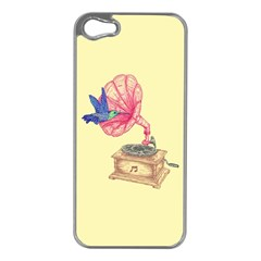 Bird Love Music Apple iPhone 5 Case (Silver)