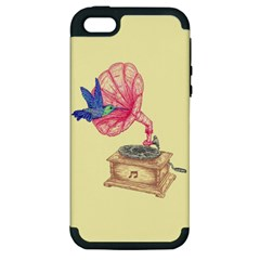 Bird Love Music Apple Iphone 5 Hardshell Case (pc+silicone)