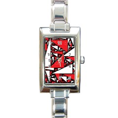 Titillating Triangles Rectangular Italian Charm Watch