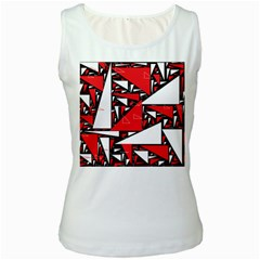 Titillating Triangles Women s Tank Top (White)