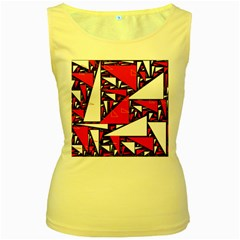 Titillating Triangles Women s Tank Top (Yellow)