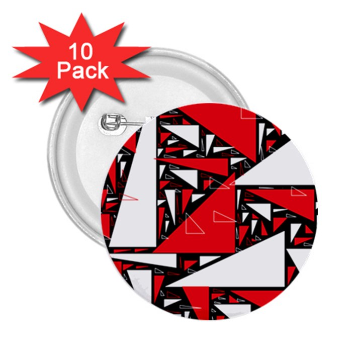 Titillating Triangles 2.25  Button (10 pack)