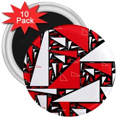 Titillating Triangles 3  Button Magnet (10 pack)