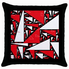 Titillating Triangles Black Throw Pillow Case