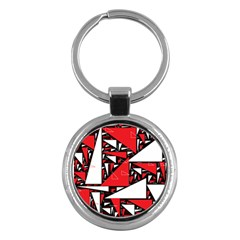 Titillating Triangles Key Chain (round)