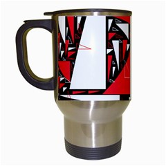 Titillating Triangles Travel Mug (White)