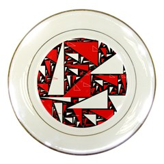 Titillating Triangles Porcelain Display Plate