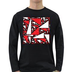 Titillating Triangles Men s Long Sleeve T-shirt (Dark Colored)