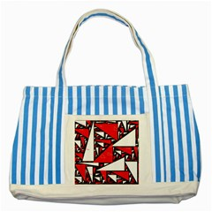Titillating Triangles Blue Striped Tote Bag