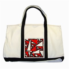 Titillating Triangles Two Toned Tote Bag