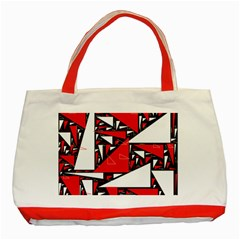 Titillating Triangles Classic Tote Bag (Red)