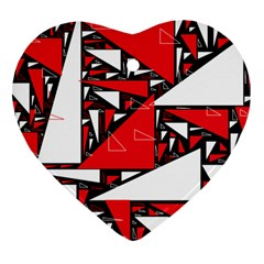 Titillating Triangles Heart Ornament (Two Sides)