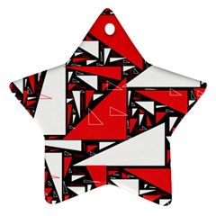 Titillating Triangles Star Ornament (Two Sides)
