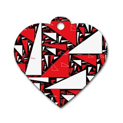 Titillating Triangles Dog Tag Heart (two Sided)