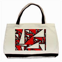 Titillating Triangles Twin-sided Black Tote Bag