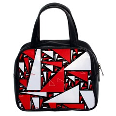 Titillating Triangles Classic Handbag (two Sides)