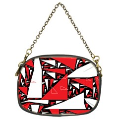 Titillating Triangles Chain Purse (Two Sided)