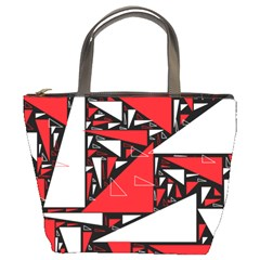 Titillating Triangles Bucket Handbag