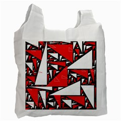 Titillating Triangles White Reusable Bag (One Side)