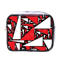Titillating Triangles Mini Travel Toiletry Bag (one Side)