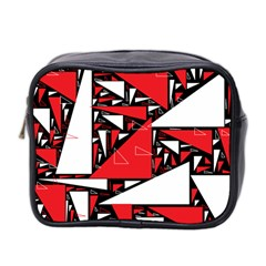 Titillating Triangles Mini Travel Toiletry Bag (two Sides)