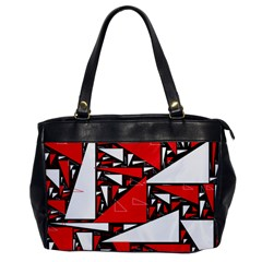 Titillating Triangles Oversize Office Handbag (One Side)