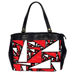 Titillating Triangles Oversize Office Handbag (two Sides)