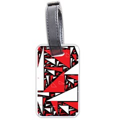 Titillating Triangles Luggage Tag (one Side)