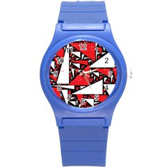 Titillating Triangles Plastic Sport Watch (Small)