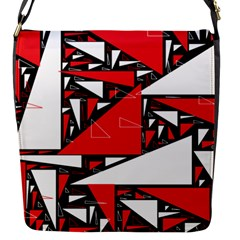Titillating Triangles Flap Closure Messenger Bag (Small)