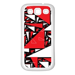 Titillating Triangles Samsung Galaxy S3 Back Case (White)