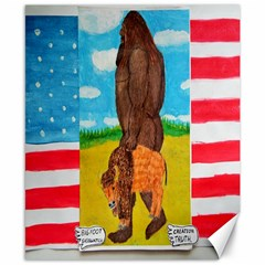 big foot,bison u,s,a, flag Canvas 8  x 10  (Unframed)