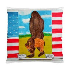 Big Foot,bison U,s,a, Flag Cushion Case (two Sided)