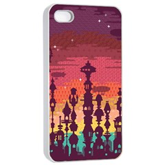 Meet me after sunset Apple iPhone 4/4s Seamless Case (White)