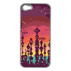 Meet me after sunset Apple iPhone 5 Case (Silver)