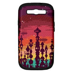 Meet me after sunset Samsung Galaxy S III Hardshell Case (PC+Silicone)