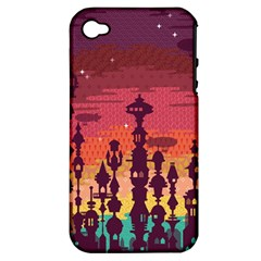 Meet me after sunset Apple iPhone 4/4S Hardshell Case (PC+Silicone)