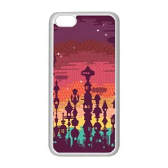 Meet me after sunset Apple iPhone 5C Seamless Case (White)