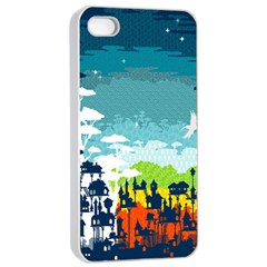 Rainforest City Apple Iphone 4/4s Seamless Case (white)