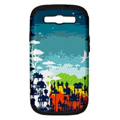 Rainforest City Samsung Galaxy S Iii Hardshell Case (pc+silicone)