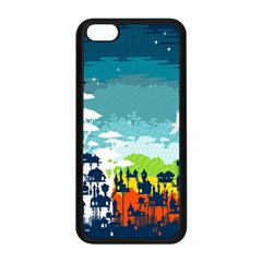 Rainforest City Apple Iphone 5c Seamless Case (black)