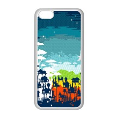 Rainforest City Apple iPhone 5C Seamless Case (White)