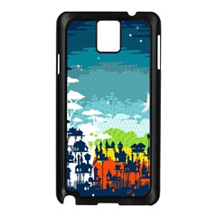 Rainforest City Samsung Galaxy Note 3 N9005 Case (Black)